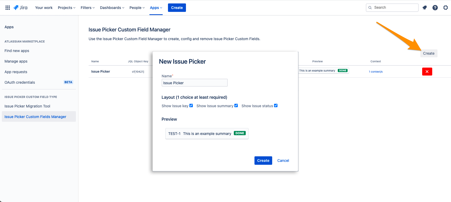 Issue Picker Custom Field Type - How create a new custom field type in Jira